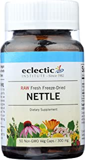 Eclectic Nettles Leaf Freeze Dried Vegetables with Glass, Blue, 50 Count