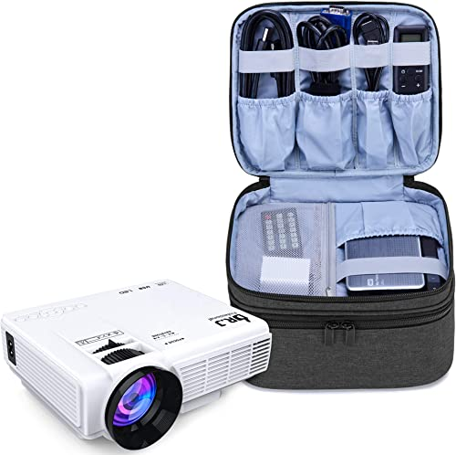 Luxja Carrying Bag for DR.J Mini Projector, Portable Case for Mini Projector and Accessories (Fits Most Major Mini Pr...