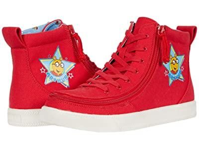 BILLY Footwear Kids Classic Lace High Arthur Star (Little Kid/Big Kid) (Red) Kid
