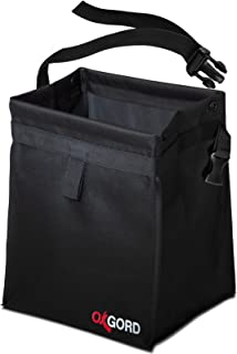 OxGord Waterproof Car Trash Can Bin - Interior Garbage Waste Basket Container Organizer - Vehicle Accessory for Travel and Camping - Best for Hanging from Seat, Black