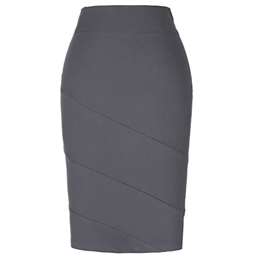4ed4b62287b5de Kate Kasin Women's Knee Length Pencil Skirts Slim Fit Business Skirt
