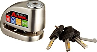Xena XX-6 Motorcycle Disc Lock with Alarm - Stainless Steel
