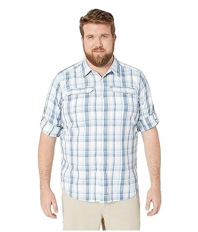 Columbia Big and Tall Silver Ridge 2.0 Plaid Long Sleeve Shirt (Impulse Blue Plaid) Men
