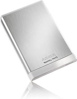 ADATA NH13シリーズ 1TB USB3.0 メタリックケース 外付けポータブルHDD シルバー 3年保証 ANH13-1TU3-CSV