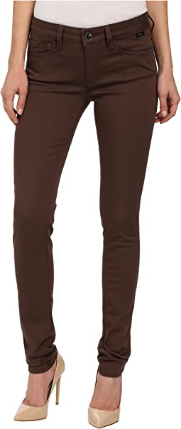 Alexa in Chocolate Brown Gold Sateen