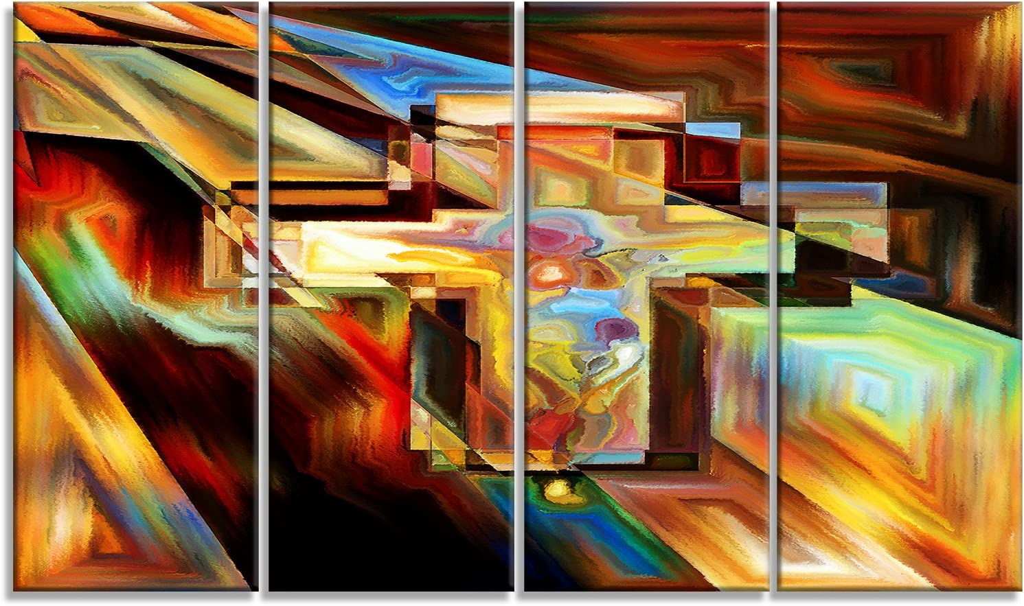 Designart Light of The Piece Cross-Canvas Artwork-48x28-4 Sales results No. 1 28'' Beauty products