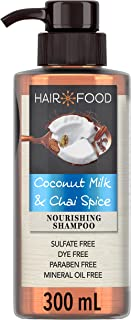 Hair Food Sulfate Free Nourishing Shampoo with Coconut and Chai Spice, 300ml