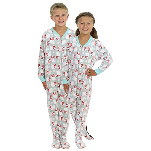 SleepytimePjs Kid s Sleepwear Fleece Onesie PJs Footed Pajama 3631e44c9ae0