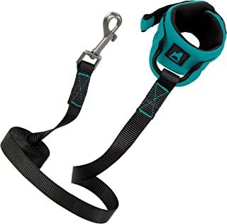 Gooby Dog Leash - Turquoise, 6 FT - Neoprene Wrist Band Leash, Hands Free Dog Leash with Padded Handle - Perfect on The Go...