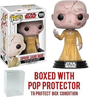 Funko Pop! Star Wars: The Last Jedi - Supreme Leader Snoke #199 Vinyl Figure (Bundled with Pop BOX PROTECTOR CASE)