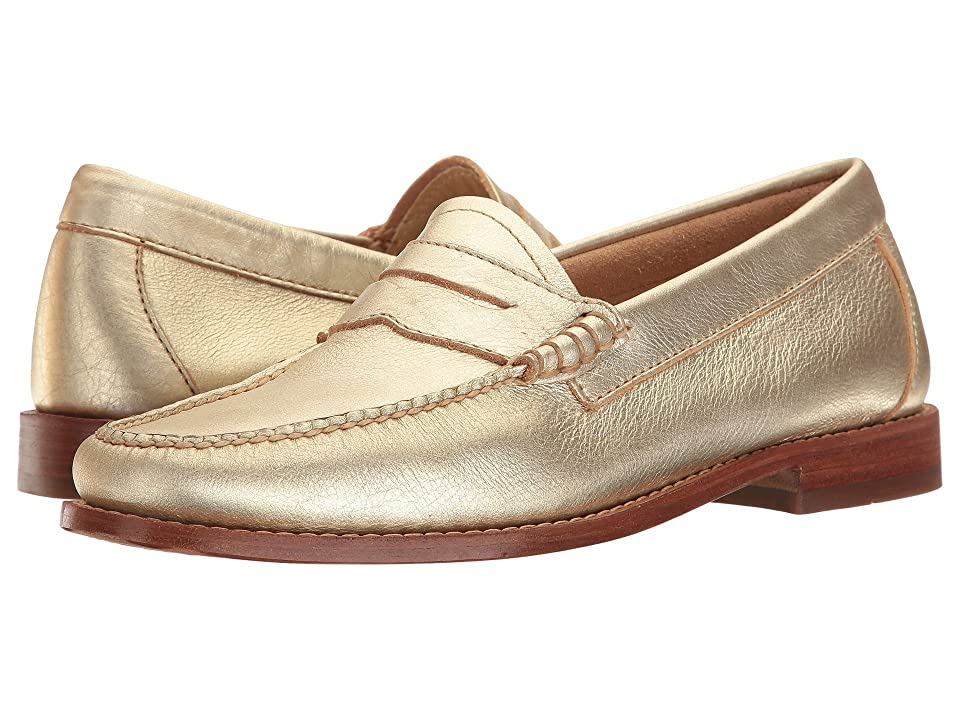 G.H. Bass & Co. Whitney Weejuns (Gold Metallic Leather) Women