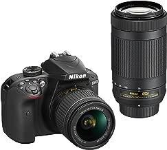 Nikon D3400 Digital SLR Camera & 18-55mm VR & 70-300mm DX AF-P Lenses - (Renewed)