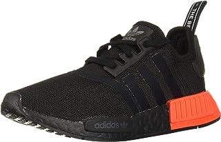 adidas Originals mens Nmd_r1 Running Shoe, Black/Black/Solar Red, 4 US