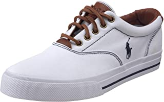 Polo Ralph Lauren Mens Vaughn Canvas/Leather Lace up casual