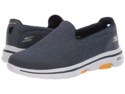 SKECHERS Performance Go Walk 5 (Navy/Yellow) Men