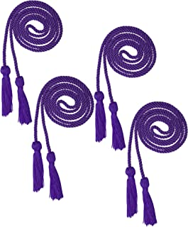 Beautyflier Pack of 4 Graduation Honor Braided Cords with Sewing Tassels Polyester Yarn Honor Cord for Bachelor Gown for Graduation Students (Purple(4pcs))