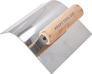 Kraft Tool CF193 2-Inch Radius Curb Tool with Wood Handle, 6 x 5-Inch