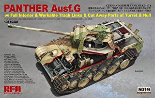 RFMRM5019 1:35 Rye Field Model Panther Ausf.G Sd.Kfz.171 with Full Interior/Workable Track Links/Cut Away Parts of Turret & Hull [Model Building KIT]