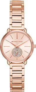 Michael Kors Womens Quartz Watch, Analog Display and Stainless Steel Strap MK3839