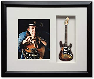 Stevie Ray Vaughan Custom Artist Tribute Framed Shadow Box Licensed Fender Strat SRV Number One Mini Guitar