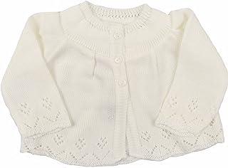 Baby Knitted Cardigan Unisex Matinee Jacket Cream Newborn 0-3 Month