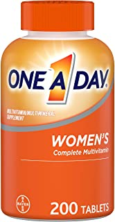 Multivitamin for Women by One a Day, Vitamins for Women with Vitamin C, Vitamin D, B6, B12, Biotin, Calcium, & more, 200 C...