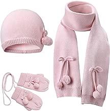 Vivobiniya Baby Hat Scarf Gloves 3pcs/Set Toddler Girl Winter Warm Set