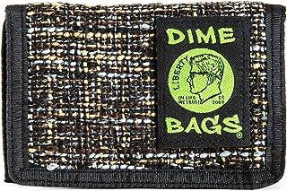 Dime Bags Trifold Hempster Wallet - Classic Trifold Design w/Exterior Pocket and Interchangable Label (Concrete)