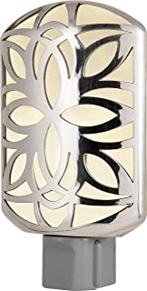 GE 11314 LED CoverLite, Light Sensing, Auto On/Off, Plug-in, Energy Efficient, Soft White, Brushed Nickel Finish, Ideal for Entryway, Hallway, Kitchen, Bathroom, Bedroom, Office, Stairway and More