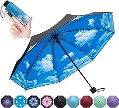 NOOFORMER Mini Travel Umbrella -95% Anti-UV Lightweight Compact Small Folding Sun Umbrellas -8Ribs