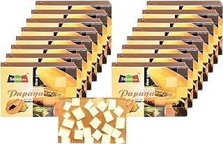SebonCare Handmade Papaya Soap Enrich with Dead Sea Salt, Aloevera Extract, Papaya Extract, Glycerin, vegetable Oil (SLS free) - pack of 16 (100gm)