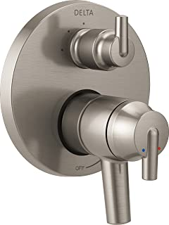 Delta Faucet T27859-SS Trinsic Contemporary Monitor 17 Series Valve Trim with 3-Setting Integrated Diverter, Stainless,