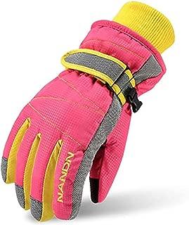 Ski Gloves for Kids - Windproof Snowboard Winter Warm...