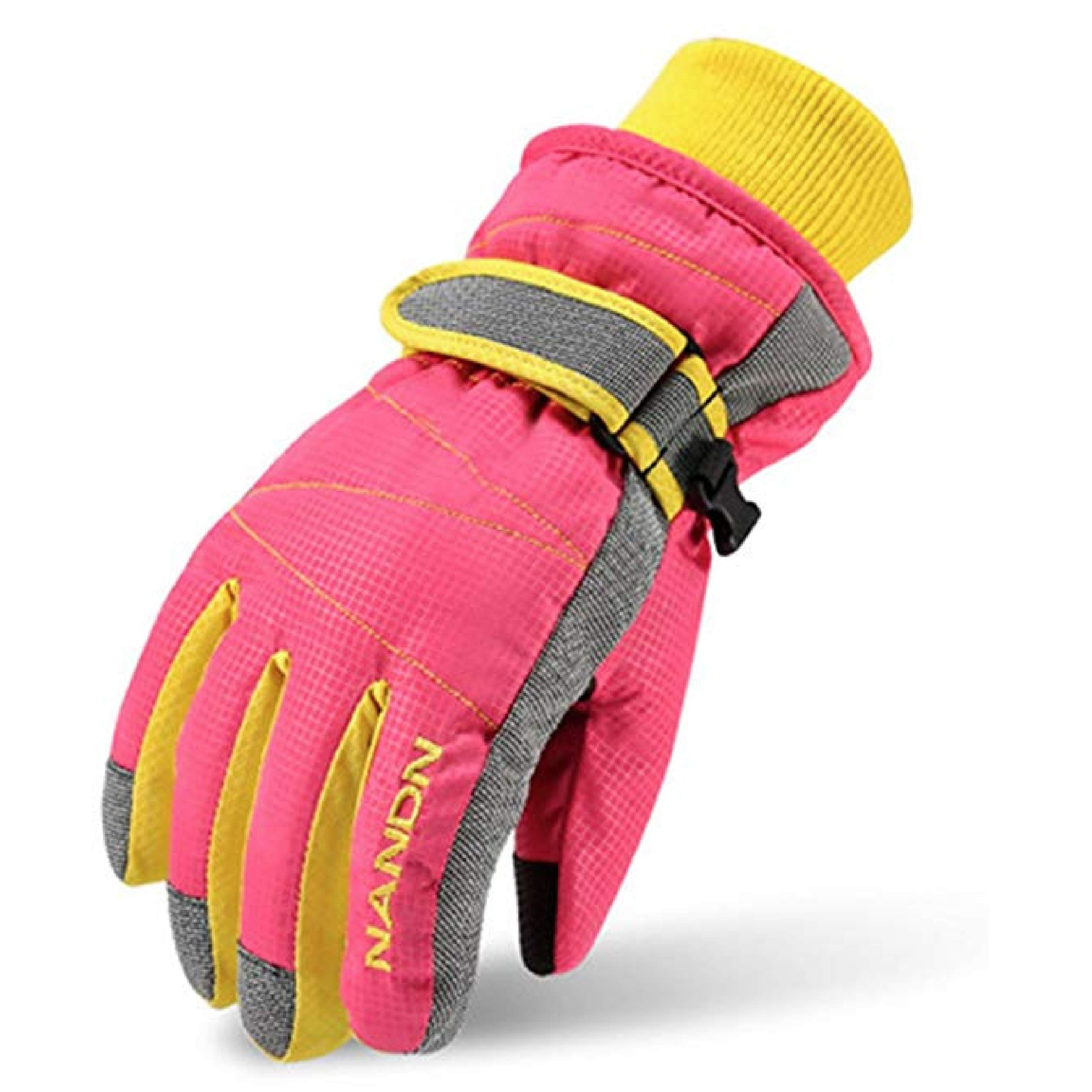 Windproof Snowboard Winter Warm Gloves Thermal Fleece Snow Gloves for Boys Girls TRIWONDER Ski Gloves for Kids