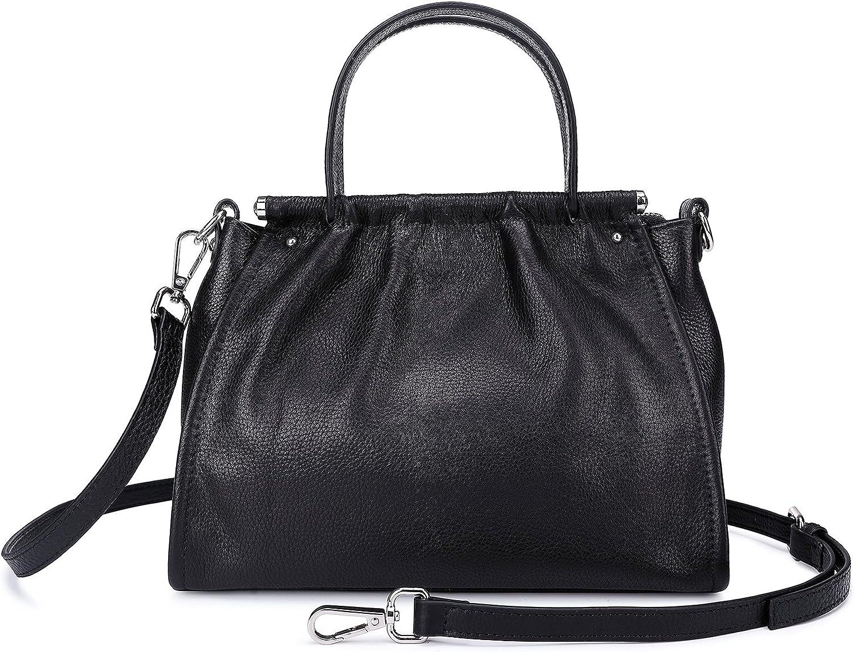 Small Leather Crossbody Handbags Purse For Women Black Travel Shoulder Messenger Bags