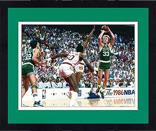 Framed Larry Bird Boston Celtics Autographed 16