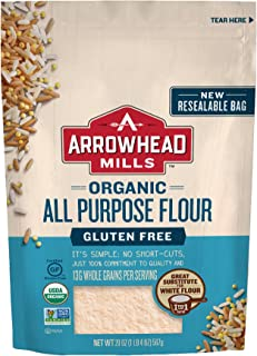 Arrowhead Mills Organic Gluten-Free All-Purpose Flour, 20 oz. Bag (Pack of 6)