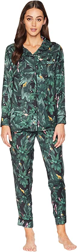 Silky Jungle Print PJ Set