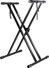 RockJam Xfinity Heavy-Duty, Double-X, Pre-Assembled, Infinitely Adjustable Piano Keyboard..