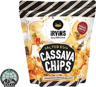 IRVINS Salted Egg Cassava Chips, 105g