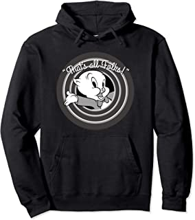 Looney Tunes That's All Folks Porky Pig Sweat à Capuche