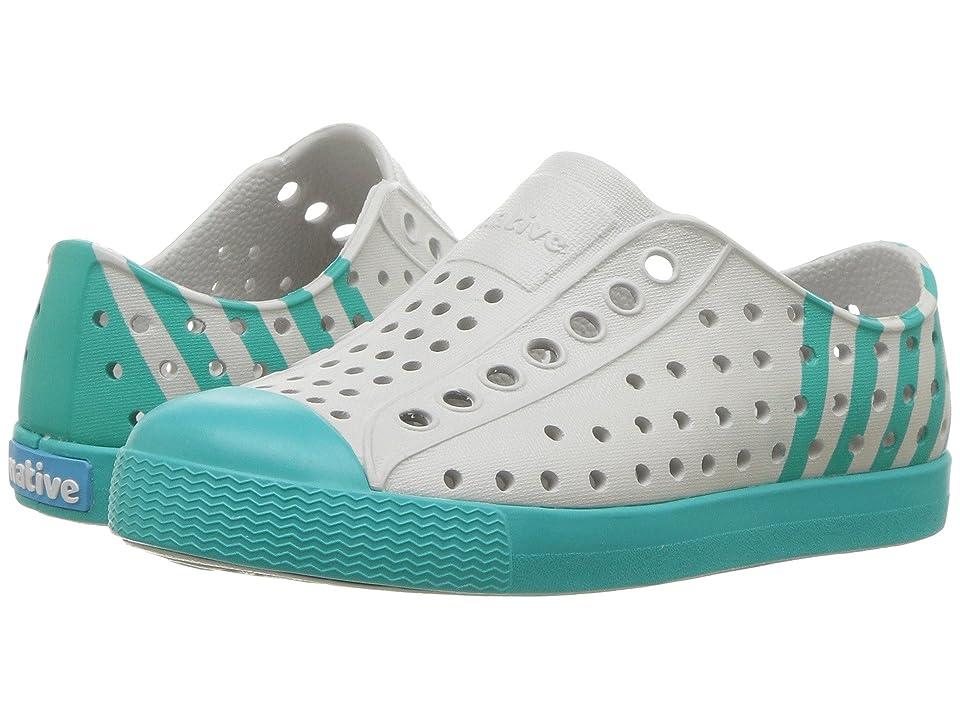 Native Kids Shoes Jefferson Block (Toddler/Little Kid) (Mist Grey/Glacier Green/Glacier Stripe) Kids Shoes