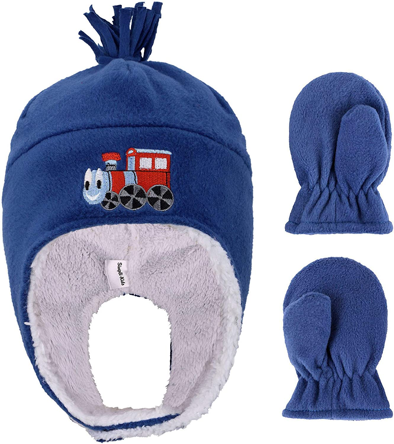 Kids Toddlers Polar Fleece with Embroidered Winter and High material Set Hat New product!! M