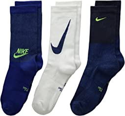 Nike Kids - Performance Cushioned Mesh Crew Training Socks 3-Pair Pack (Little Kid/Big Kid)