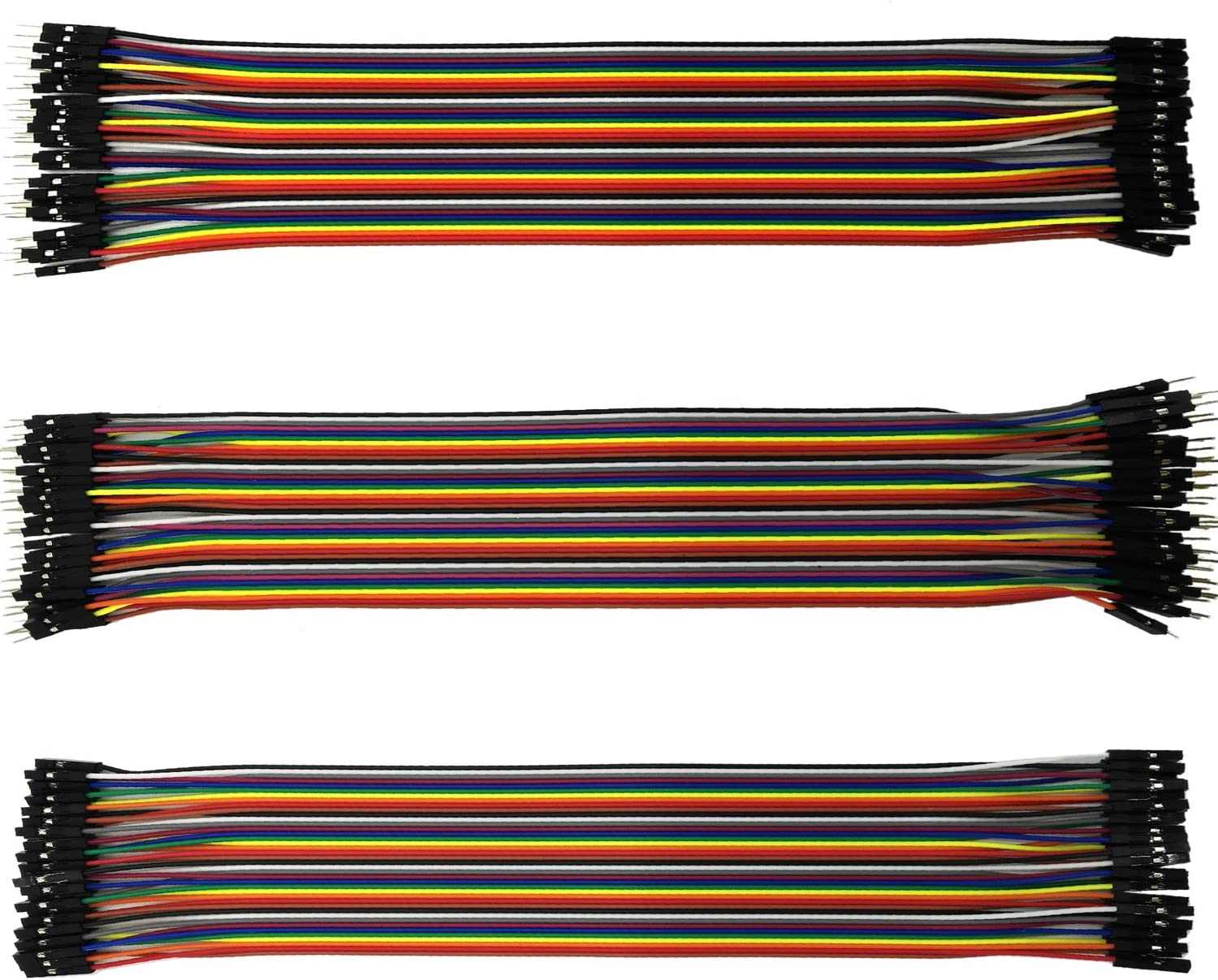 Raspberry Pi Breadboard Jumper Wires Ribbon Cables Kit for Arduino 40pin Male to Female 40pin Female to Female 40pin Male to Male UCEC 360 Pcs Multicolored Jumper Wires