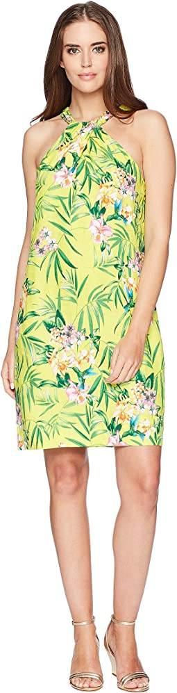 Humming A Bloom Halter Dress