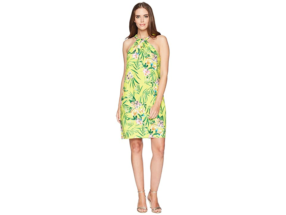 acd6b4c1a69 Tommy Bahama Humming A Bloom Halter Dress (Sulphur Spring) Women s Dress