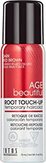 AGEbeautiful Root Touch-Up, Dark Red Brown, 2-Ounce