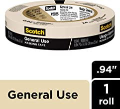 Scotch Painter's Tape 051131870178 3M 2025-24C Masking Tape for Basic Painting.94-Inch by 60.1-Yard, 0.94