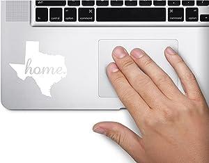 ExpressDecor #2 Home Texas State Name Keypad Computer Laptop Symbol Decal Family Love Car Truck Sticker Window (White)